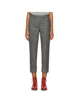 Grey Classic Backstrap Trousers by Thom Browne