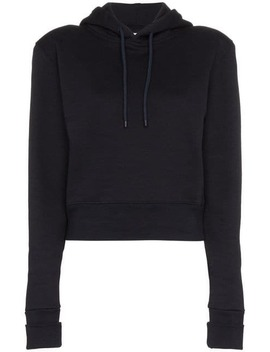 Cropped Fitted Cotton Hoodie by A Plan Application
