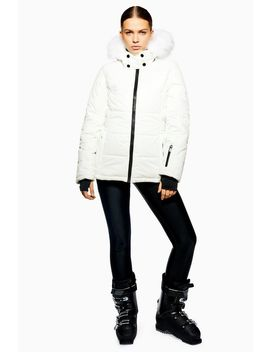 **White Hooded Jacket By Topshop Sno by Topshop