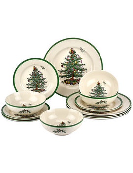 Christmas Tree 12 Pc. Dinnerware Set, Created For Macy's by Spode