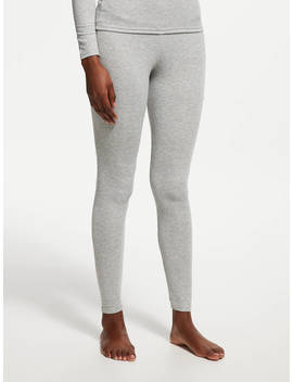 John Lewis & Partners Heat Generating Ribbed Thermal Leggings, Grey by John Lewis & Partners