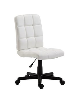 Poly And Bark Eva Task Chair In Vegan Leather, White by Poly & Bark