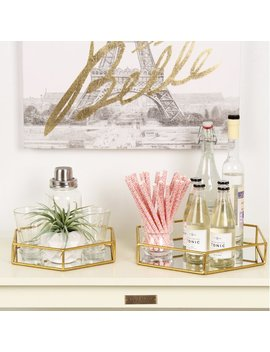 Kate And Laurel Felicia 2 Piece Metal Mirrored Ornate Decorative Tray & Reviews .Ca by Kate And Laurel