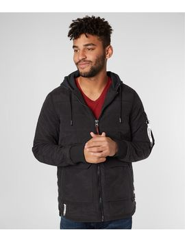 Quilted Cotton Hooded Jacket by Triple 5 Soul