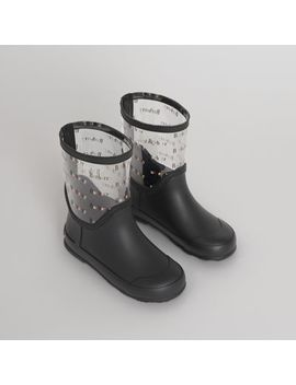 Logo Print Rubber Rain Boots by Burberry