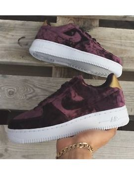 Nike Air Force 1 Low Burgundy Premium Velvet by Ebay Seller