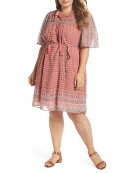 Jenna Print Peasant Dress by Lucky Brand