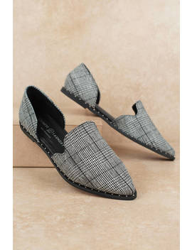 Chinese Laundry Emy Black And White Pointed Flats by Tobi