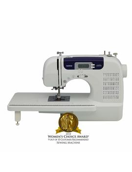 Brother Sewing And Quilting Machine, Cs6000i, 60 Built In Stitches, 7 Styles Of 1 Step Auto Size Buttonholes, Wide Table, Hard Cover, Lcd Display And Auto Needle Threader by Brother