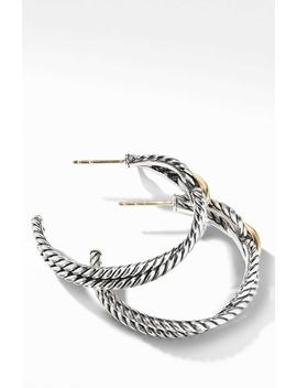 Cable Loop Hoop Earrings With 18 K Gold by David Yurman
