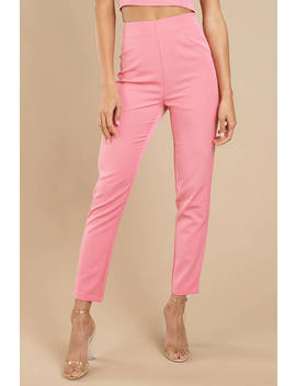 Jennie Pink Skinny Pants by Tobi