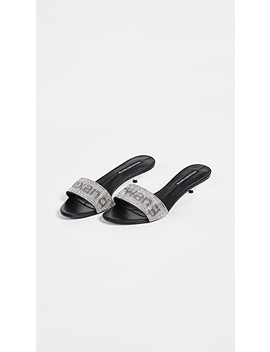 Jo Kitten Heel Logo Sandals by Alexander Wang