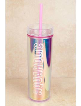 Sunnylife Aquaholic Pink Tumbler by Tobi