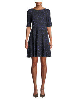 Leopard Lace Up Ponte Dress by Kate Spade New York