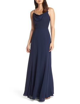 The Melanie Cowl Neck Gown by Wayf