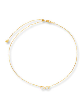 "Infinity Choker Necklace 10 K Yellow Gold 16"" Adjustable by Kay Jewelers"