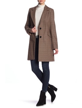 Blazer Flap Pocket Wool Blend Coat by Sam Edelman