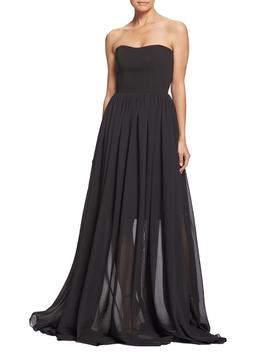 Ella Strapless Crepe Chiffon Gown by Dress The Population
