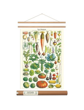 Cavallini French Garden Vegetable Poster With Hanger Kit 20 X 28 Vintage Style by Cavallini