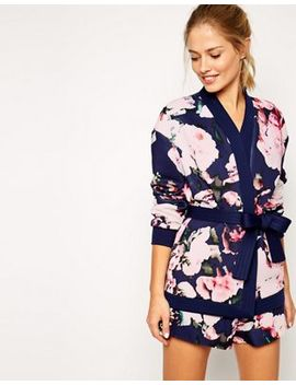 Finders Keepers Surrender Kimono In Digital Floral Print by Finders Keepers