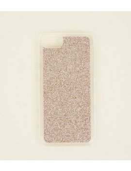 Rose Gold Glitter I Phone 6/6s/7/8 Case by New Look