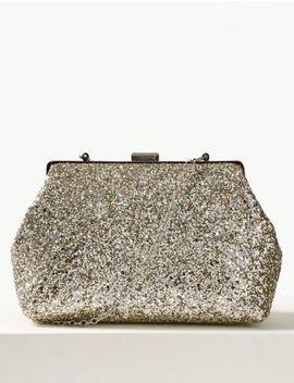 Glitter Frame Clutch Bag by Marks & Spencer