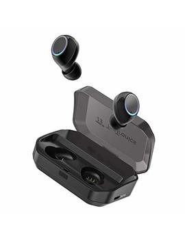 Wireless Earbuds, Tao Tronics Bluetooth 5.0 Headphones True Wireless Ear Buds Ipx7 Waterproof Dual Built In Mic Earphones With 3500m Ah Charging Case For 120 H Extended Playtime by Tao Tronics