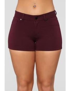 Riley Shorts   Plum by Fashion Nova