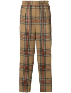 Check Track Trousers by Monkey Time