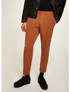 Tan Tapered Trousers With Chain by Topman