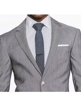 Black And White Fineline Suit by Indochino