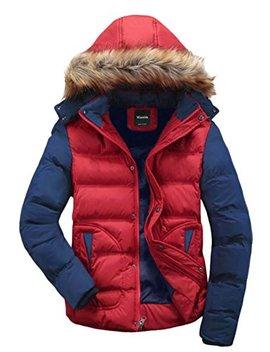 Wantdo Men's Winter Puffer Coat Casual Fur Hooded Warm Outwear Jacket by Wantdo