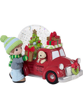 Christmas Is On Its Way Musical Snow Globe by Precious Moments