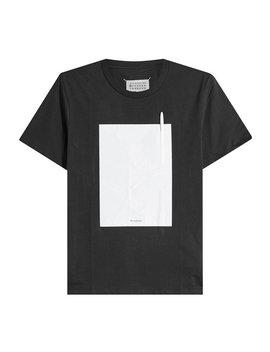 T Shirt Aus Baumwolle Mit Kugelschreiber by Maison Margiela