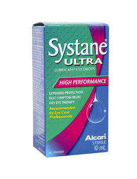 Systane Ultra Lubricant Eye Drops   High Performance   10ml by Alcon