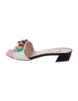 Leather Stud Sandals by Fendi