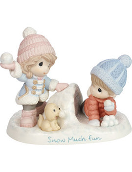 Snow Much Fun Boy And Girl Figurine by Precious Moments