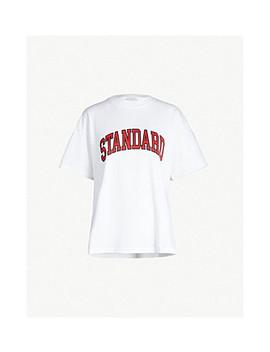 Standard Print Cotton Jersey T Shirt by Sandro