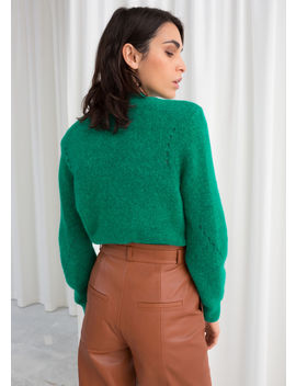 Structured Alpaca Wool Blend Sweater by & Other Stories