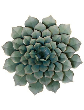 "23.62"" Metal Succulent Decorative Wall Art Green   Style Craft by Style Craft"