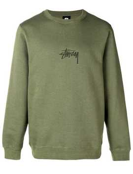 Embroidered Logo Sweater by Stussy