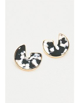 Gold + Resin Disc Earrings by Urban Outfitters