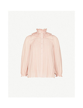 Ruffled Neck Crepe Voile Shirt by See By Chloe