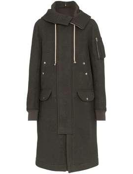 Mega Hood Wool Parka Coat by Rick Owens