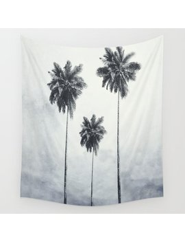 Three Palm Trees Wall Tapestry by