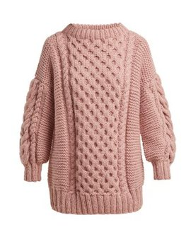 Cable Knit Wool Sweater by I Love Mr Mittens