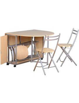 Butterfly Dining Set With Chairs                 Beech Effect Butterfly Dining Set With Chairs                 Beech Effect by Wilko