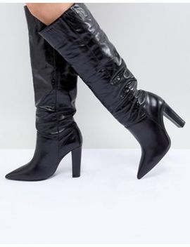 Mango Knee High Leather Boot by Mango