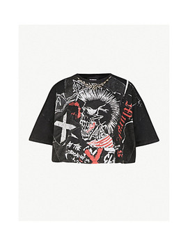 Printed Cotton Jersey T Shirt by The Kooples