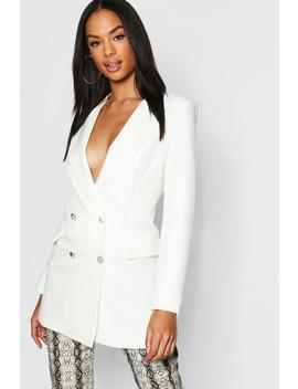 Tall Button Detail Tailored Blazer by Boohoo
